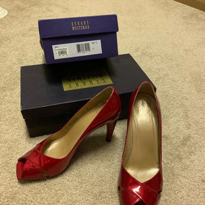 Stuart Weitzman Red Patent Leather Heels
